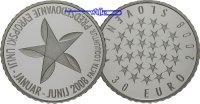 30 Euro 2008 Slowenien EU - Ratspräsidentschaft - erste 30 Euro Münze e... 199,00 EUR  + 17,00 EUR frais d'envoi