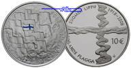 10 Euro 2008 Finnland Finnische Flagge 2008 (mit blauer Applikation),1.... 42,00 EUR  + 17,00 EUR frais d'envoi