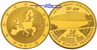 Frankreich 10 Euro, 7,78g <br>fein<br>22 mm  Europisches Parlament - Gold inkl. Etui & Zertifikat & Schuber