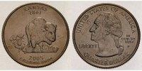 1/4 $ 2005 P USA Kansas P - Kupfer-Nickel - vz  5,00 EUR  + 7,00 EUR frais d'envoi