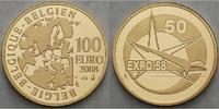 100 Euro15,54g fein29 mm Ø 2008 Belgien 50.Geburtstag Expo / Besonderhe... 850,00 EUR  + 23,00 EUR frais d'envoi