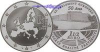 Frankreich 1 1/2 Euro Europäisches Parlament inkl. Etui & Zertifikat & Schuber