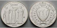 5 Euro 2003 San Marino Unabhängigkeit Toleranz + Freiheit, Drei Grazien... 45,00 EUR  + 17,00 EUR frais d'envoi