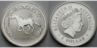 1 $ 2002 Australien Jahr des Pferdes / Chines.Tierkreiszeichen stgl  175,00 EUR  + 17,00 EUR frais d'envoi
