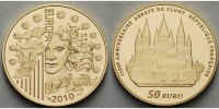 Frankreich 50 Euro<br>7,78g<br>fein<br>22 mm  1100 Jahre Abtei Cluny - Europa inkl. Etui & Zertifikat & Schuber