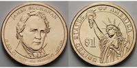 1 $ 2010 D USA James Buchanan / Kupfer-Nickel, Denver vz  3,50 EUR  + 7,00 EUR frais d'envoi