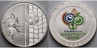 10 Yuan, 31,1g fein, Ø 40mm 2005 China Fussball WM Deutschland 2006, Fa... 79,00 EUR  + 17,00 EUR frais d'envoi