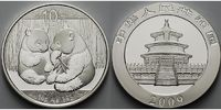 China 10 Yuan 2009 stgl Panda Bären 1 oz, ...