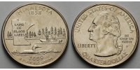 USA 1/4 $ 2005 P vz Minnesota P - Kupfer-Nickel - 5,00 EUR