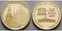 Frankreich 50 Euro<br>7,78g<br>fein<br>22 mm  Moskauer Kreml, UNESCO Weltkulturerbe,  inkl. Etui & Zertifikat & Schuber