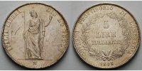 5 Lire 1848 M Italien-Lombardei Provisorische Regierung, Mailand sehr s... 150,00 EUR  + 17,00 EUR frais d'envoi