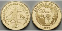Frankreich 50 Euro<br>7,78g<br>fein<br>22 mm  Fuball Weltmeisterschaft 2010 in Sdafrika, inkl. Etui & Zertifikat & Schuber