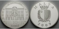Malta 10 Euro 2009 <b>PP</b><br> Silber La...