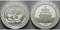China 10 Yuan 2009 stgl Panda Bären 1 oz,S...