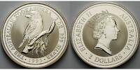 Australien 2 $,<b>2 oz.</b> 1995 stgl Kook...