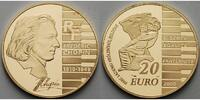 Frankreich 20 Euro, 15,64g <br>fein<br>31 mm  195. Geburtstag Frdric Chopin  1/2 oz. inkl. Etui&Zertifikat& Schuber,<b>