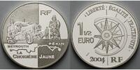 Frankreich 1 1/2 Euro Auto-Reisen, Transportserie inkl. Etui & Zertifikat & Schuber