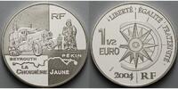 Frankreich 1 1/2 Euro Auto-Reisen, Transportserie inkl. Etui & Zertifikat & Schuber