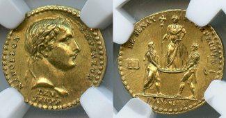 France Medal 1804 st RARE France,GOLD Coro...