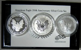 USA 3 Dollar 2006 ( 3-Coin) Silver Eagle Set