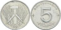5 Pfennig 1952 DDR DDR Deutschland 5 Pfennig 1952 A Berlin Aluminium SS... 1,50 EUR  zzgl. 1,00 EUR Versand