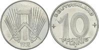 10 Pfennig 1952 DDR DDR Deutschland 10 Pfennig 1952 E Muldenhütten Alum... 12,00 EUR  zzgl. 1,00 EUR Versand