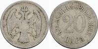 20 Para 1883 Serbien Serbien Milan I Obrenovic 20 Para 1883 Kupfer-Nick... 2,00 EUR  zzgl. 1,00 EUR Versand