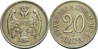 20 Para 1884 Serbien Serbien Milan I Obrenovic 20 Para 1884 H Birmingha... 20,00 EUR  zzgl. 1,00 EUR Versand