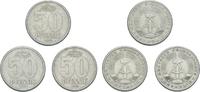 50 Pfennig 1958 DDR DDR Deutschland LOT 3 x 50 Pfennig 1958 A Berlin Al... 2,25 EUR  zzgl. 1,00 EUR Versand