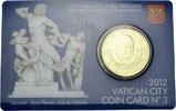 50 Eurocent 2012 Vatikan Vatikan Vatican City Official Coin Card N° 3 2... 7,00 EUR  zzgl. 1,00 EUR Versand