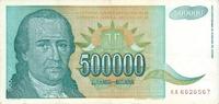 500.000 Dinara 1993 Jugoslawien Jugoslawien 500000 Dinara 1993 Dositej ... 0,75 EUR  zzgl. 1,00 EUR Versand