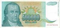 500.000 Dinara 1993 Jugoslawien Jugoslawien 500000 Dinara 1993 Dositej ... 1,75 EUR  zzgl. 1,00 EUR Versand