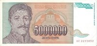 5.000.000 Dinara 1993 Jugoslawien Jugoslawien 5000000 Dinara 1993 Karad... 1,50 EUR  zzgl. 1,00 EUR Versand