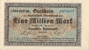 1.000.000 Mark 1923 Deutsches Reich - Bayern Bayern 1000000 Mark 1. Aug... 3,00 EUR  zzgl. 1,00 EUR Versand