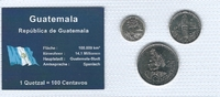 Münzblister 2000/2008 Guatemala Guatemala Münzsatz Kursmünzen 5 10 25 C... 2,75 EUR  zzgl. 1,00 EUR Versand