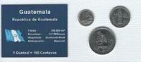 Münzblister 2000/2008/2010 Guatemala Guatemala Münzsatz Kursmünzen 5 10... 2,75 EUR  zzgl. 1,00 EUR Versand