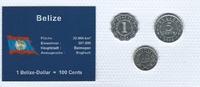Münzblister 2000/2006/2007 Belize Belize Münzsatz Kursmünzen 1 Cent 5 1... 2,75 EUR  zzgl. 1,00 EUR Versand
