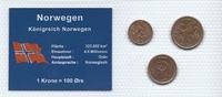 Münzblister 1972/1982 Norwegen Norwegen Münzsatz Kursmünzen 1 2 5 Öre 1... 2,75 EUR  zzgl. 1,00 EUR Versand