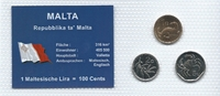 Münzblister 2001/2004 Malta Malta Münzsatz Kursmünzen 1 Cent 2 5 Cents ... 2,75 EUR  zzgl. 1,00 EUR Versand