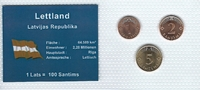 Münzblister 1992/2000/2003 Lettland Lettland Münzsatz Kursmünzen 1 Sant... 2,75 EUR  zzgl. 1,00 EUR Versand