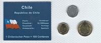Münzblister 2006 Chile Chile Münzsatz Kursmünzen 1 5 10 Pesos 2006 Süda... 2,75 EUR  zzgl. 1,00 EUR Versand