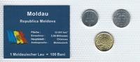 Münzblister 2008 Moldau Moldau Münzsatz Kursmünzen 10 25 50 Bani 2008 M... 2,75 EUR  zzgl. 1,00 EUR Versand