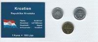 Münzblister 1999/2003/2005 Kroatien Kroatien Münzsatz Kursmünzen 1 Lipa... 2,75 EUR  zzgl. 1,50 EUR Versand