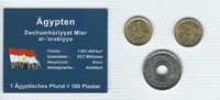 Münzblister 1984/1993/2004 Ägypten Ägypten Münzsatz Kursmünzen 1 5 25 P... 2,75 EUR  zzgl. 1,00 EUR Versand