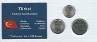 Münzblister 2004 Türkei Türkei Münzsatz Kursmünzen 50000 100000 250000 ... 2,75 EUR  zzgl. 1,00 EUR Versand