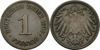1 Pfennig 1907 Deutsches Reich Deutsches Reich 1 Pfennig 1907 D München... 0,50 EUR  zzgl. 1,50 EUR Versand