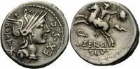 Denar 116/115 v. Chr. Rom Republik Sergius Silius Denar Rom 116/5 Roma ... 185,00 EUR  +  6,00 EUR shipping
