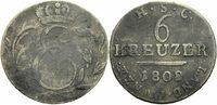 6 Kreuzer 1808 Sachsen-Coburg-Saalfeld Sachsen-Coburg-Saalfeld Herzog E... 19,00 EUR  zzgl. 1,00 EUR Versand
