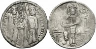 Serbien Dinar NM Serbien Stefan Uros II Milutin Dinar Grosso Matapan Banner Christus Rudnik