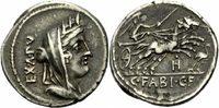 Denar 102 v. Chr. Rom Republik Fabius Hadr...